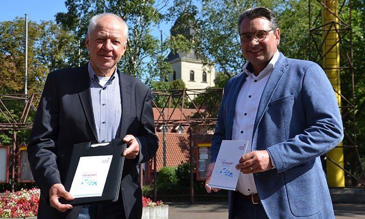 Wollen beide für Ahlen noch viel erreichen: Hans-Jürgen Rzadki und Dr. Alexander Berger.